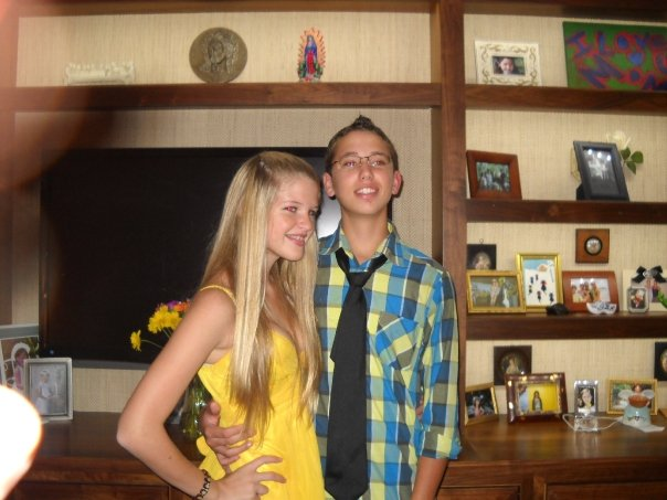 Dom and I !!! Still one of my best friends to this day. Homecoming Freshman year.